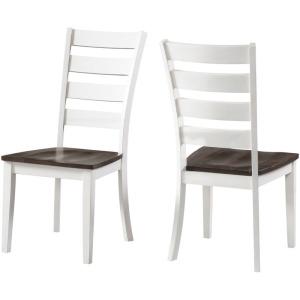 Kona Ladder Back Side Chair - Gray & White