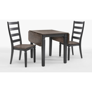 Glenwood Drop Leaf Table - Black & Charcoal