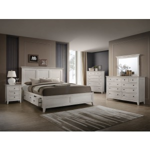 San Mateo 3PC Queen Bedroom Set - Rustic White