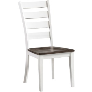 Kona Ladder Back Side Chair - Gray & White
