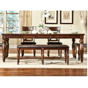 Kingston Dining Room Furniture Backless Bench w/Cushion