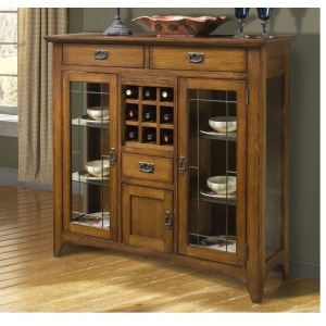 Mission Leopold Dining Room Furniture 54 Server w/ Glass Doors