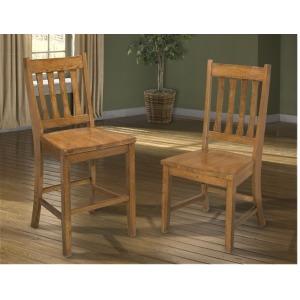 Mission Leopold Dining Room Furniture Slat Back Side Chair