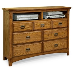 Pasadena Revival Bedroom Furniture 7 Drawer Entertainment Chest