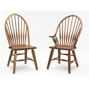 Rustic Traditions Dining Room Furniture Windsor Arm Chair - Rustic