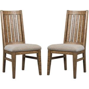 Urban Rustic Slat Back w/Cushion Seat Side Chair