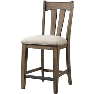 Whiskey River Splat Back w/Cushion Seat Barstool