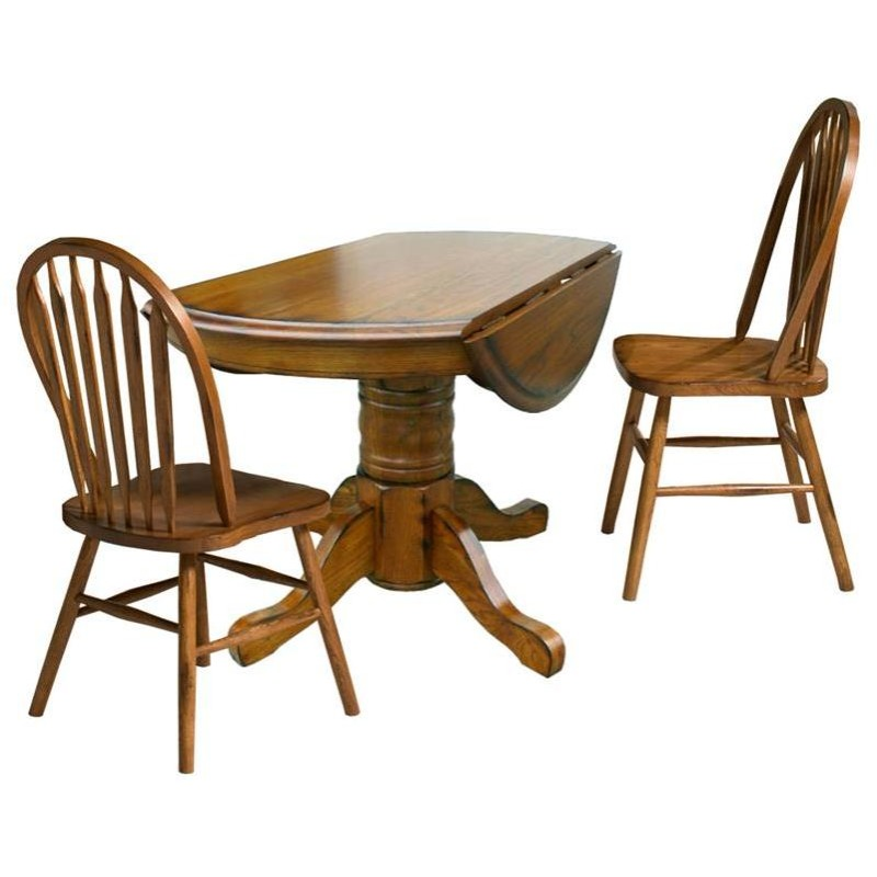 Classic Oak Solid Oak Drop Leaf Table