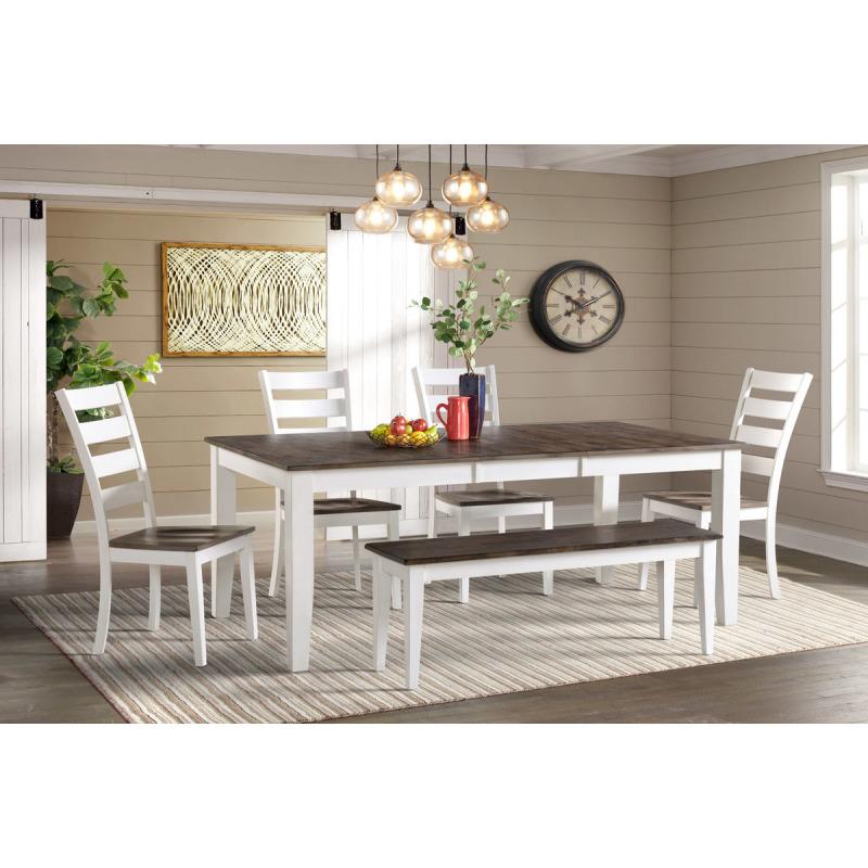 Kona Dining Table - Gray & White