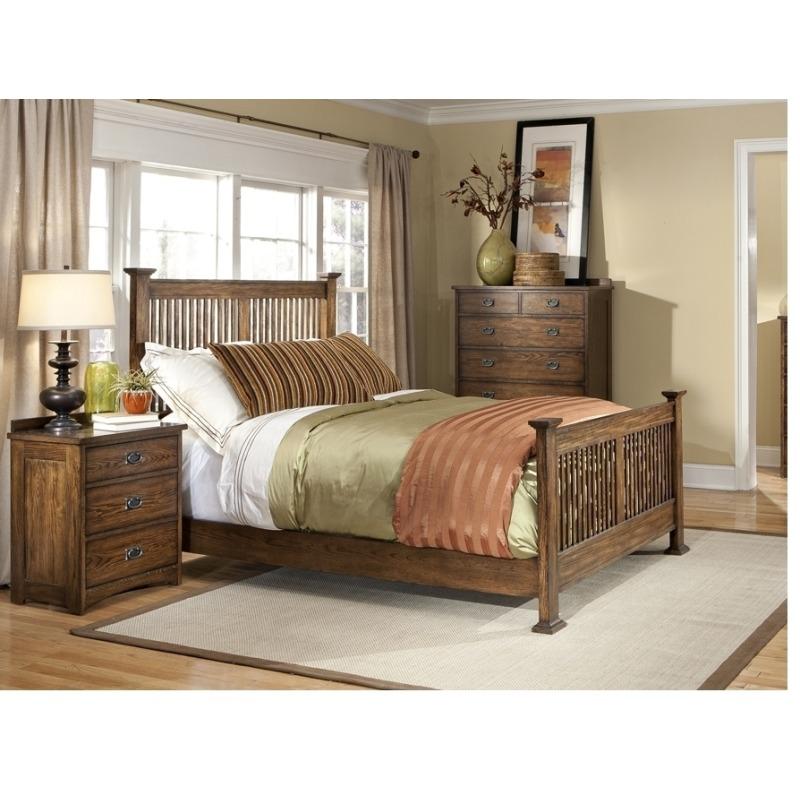 Oak Park Bedroom Furniture Three Drawer Nightstand