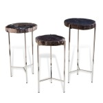 Banten Petrified Wood Drink Tables