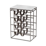Caymus Wine Rack Side Table