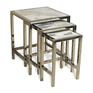 Aldo Metallic Hide Nesting Tables