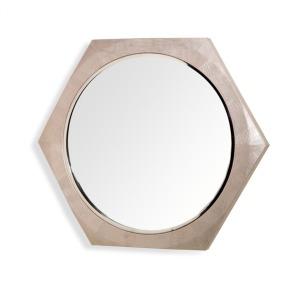 Laurel Shagreen Mirror - Cream