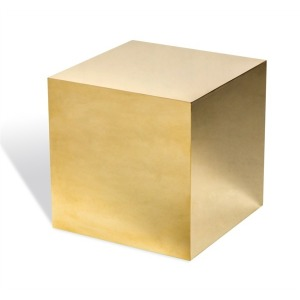 Aubrey Cube Side Table - Brass
