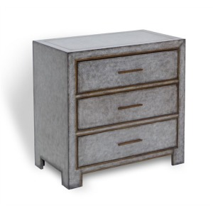 Carlton 3 Drawer Chest - Gray
