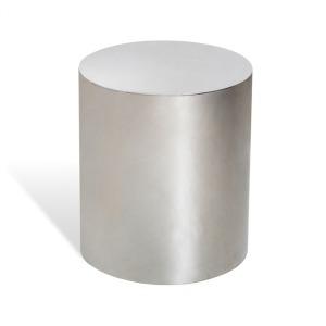 Aubrey Cylinder Side Table - Silver