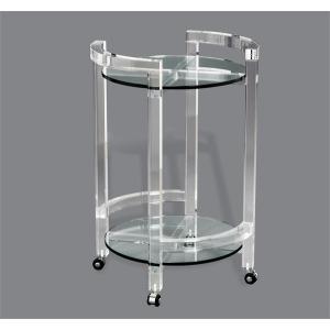 Ava Round Bar Cart - Clear