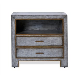 Carlton Bedside Chest - Gray