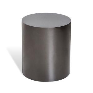 Aubrey Cylinder Side Table - Black Nickel