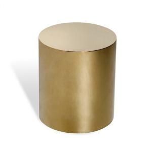 Aubrey Cylinder Side Table - Brass