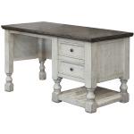 Stone 2 Drawer & 1 Shelves Desk