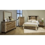 Antique 4 PC Queen Storage Bedroom Set