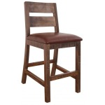 "24"" Barstool for Counter Height Table - with Faux Leather seat"