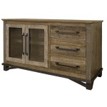 Loft Brown 3 Drawer 2 Door Buffet