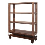 55in Bookcase with 3 shelves & Casters