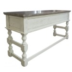 STONE COUNTER HEIGHT SOFA TABLE