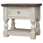 Stone One-Drawer Nightstand