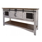 PUEBLO GRAY SOFA TABLE