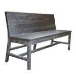 Moro Solid Wood Bench with Backrest