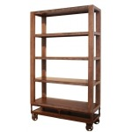 "Urban Gold 70"" Bookcase with 4 Shelves & Casters"