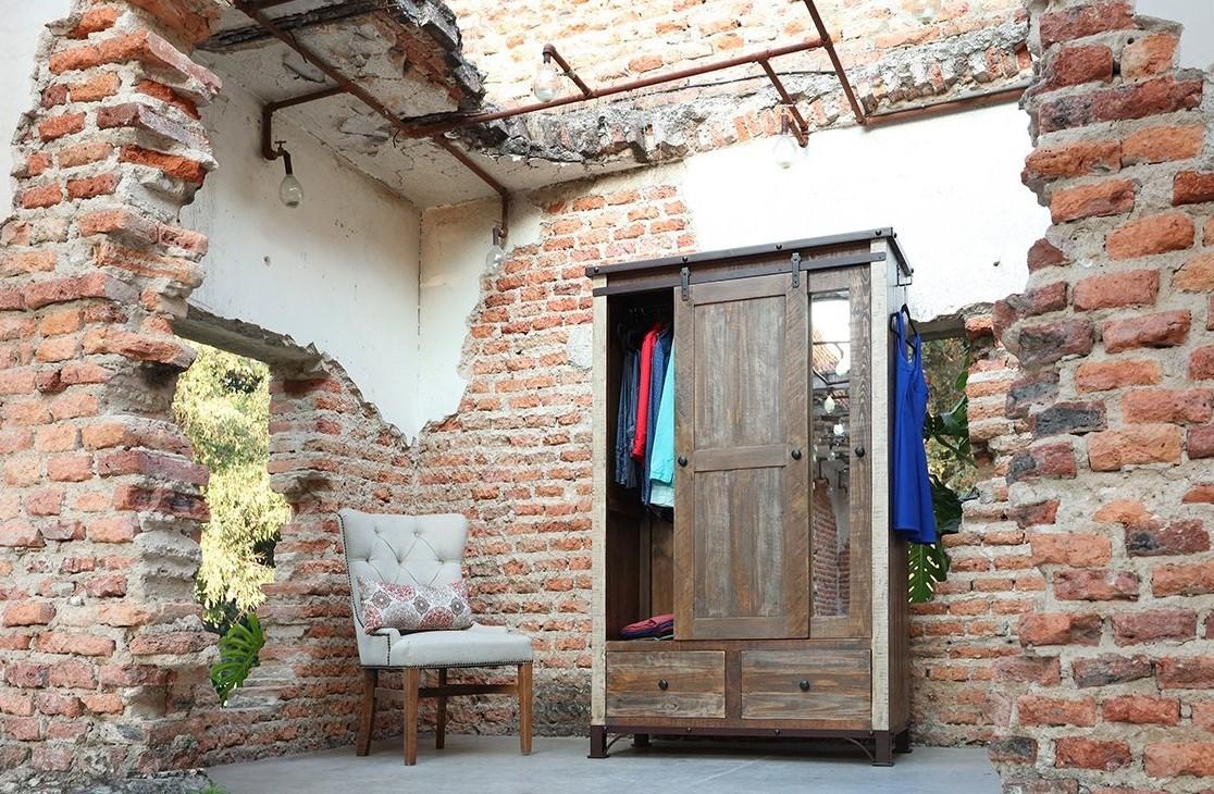 2 Drawer 1 Sliding Door 1 Mirror Door Armoire Furnitureland