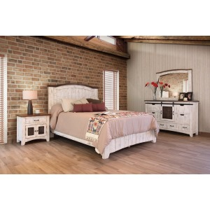 Pueblo White 7 PC Queen Bedroom Set