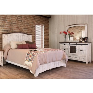 Pueblo White 3 PC Queen Bedroom Set