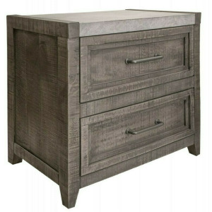 Marble 2 Drawer Nightstand