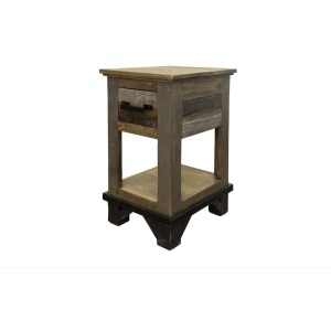 LOFT BROWN CHAIRSIDE TABLE