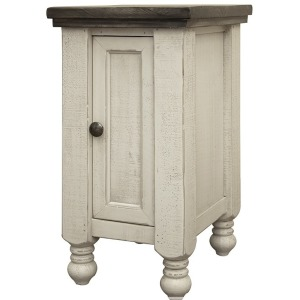 Stone 1 Door Chairside Table