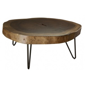Vivo Authentic Live-Edge Cocktail Table