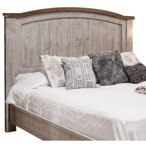 PUEBLO GRAY QUEEN BED