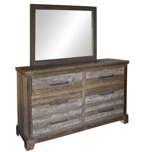 Santa Clara 6 Drawer Dresser & Mirror
