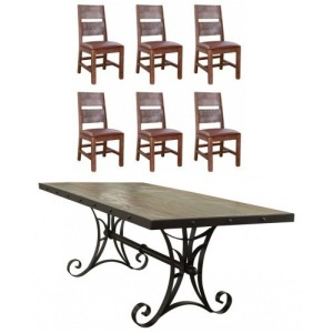 Antique Multicolor 7 PC Dining Set