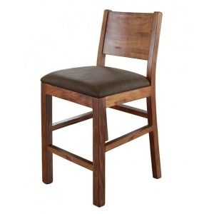 "Parota 30"" Barstool with Faux Leather Seat"
