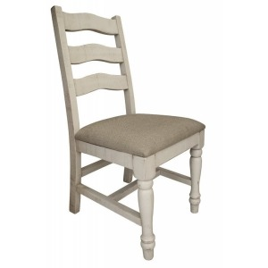 Rock Valley Solid Wood Chair w/ Fabric Seat