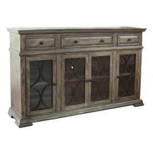 Bonanza Console w/ 4 glass doors w/ 3 Drawers