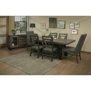 Loft Brown 7 PC Dining Set
