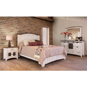 Pueblo White 4 PC Queen Bedroom Set